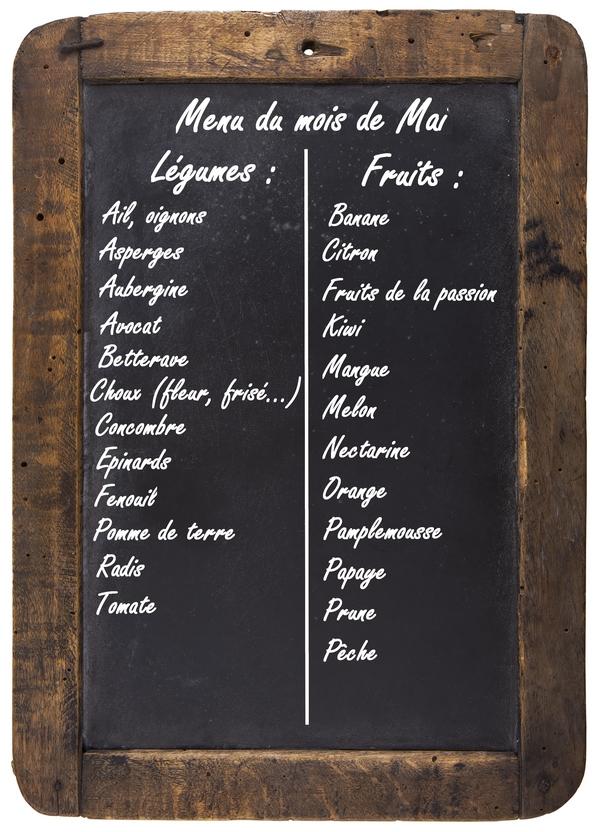 fruits legumes saison mai2 Fruits et légumes du mois de mai