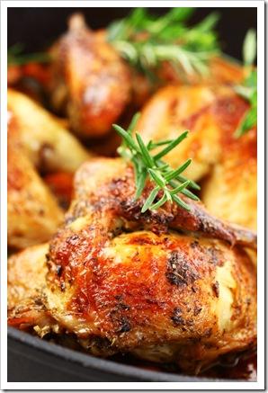 poulet02 thumb Les herbes aromatiques, 30 mariages pleins de saveurs.