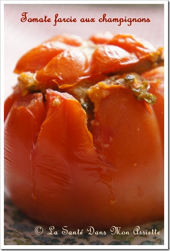 tomatesfarciesauxchampignons thumb Recette de tomates farcies