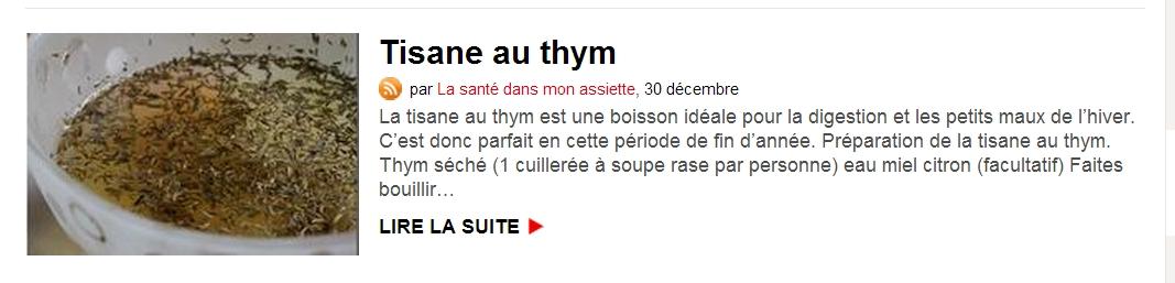 30 décembre 2012 Revue de presse