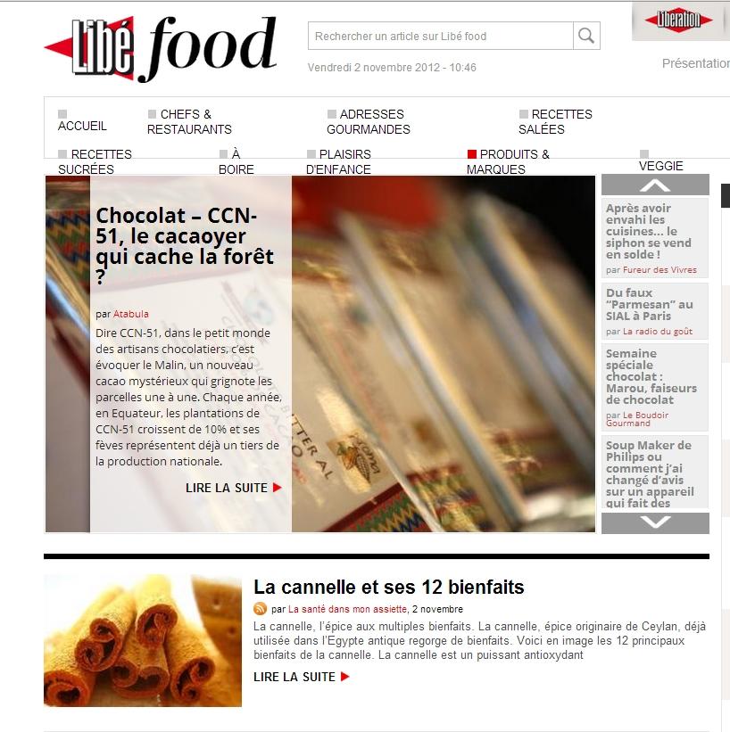 libefood 02 novembre 2012 Revue de presse