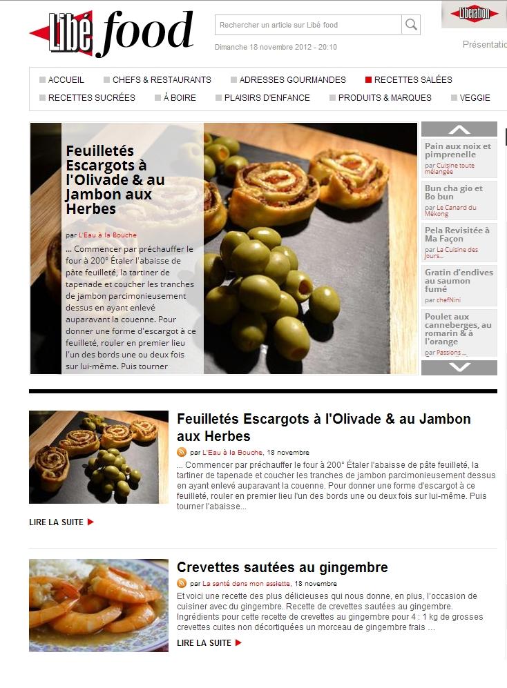 libefood 18 11 2012 Revue de presse