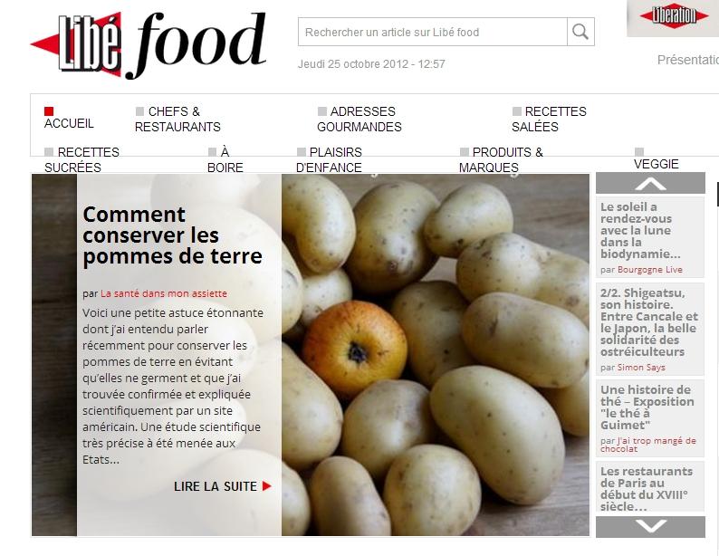 libefood 25 octobre 20121 Revue de presse