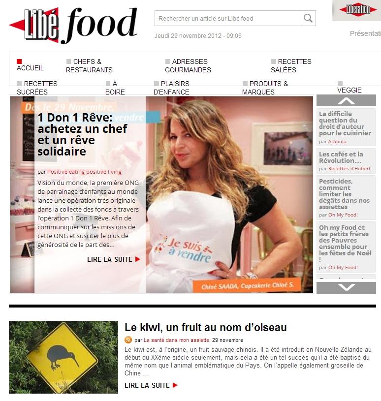 libefood 28 novembre 2012 Revue de presse