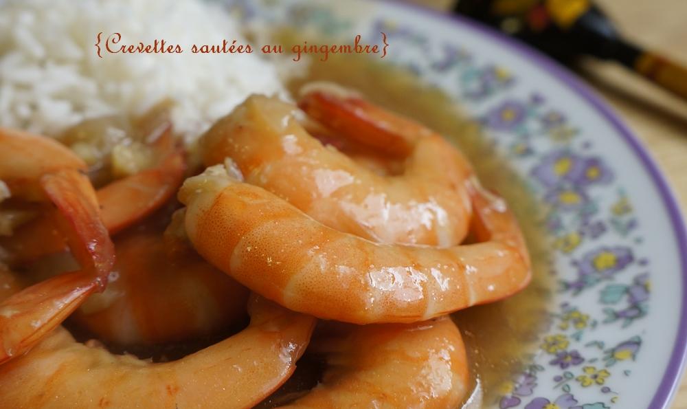 crevettes sautées gingembre slider