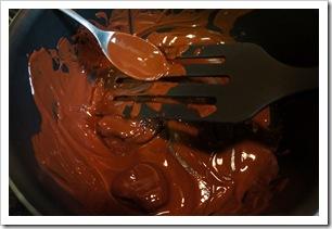 chocolat fondu thumb Noël : ballotins de pruneaux au chocolat