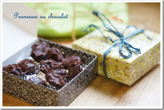 pruneaux au chocolat thumb Noël : ballotins de pruneaux au chocolat