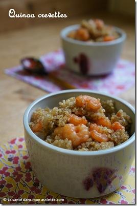recette quinoa crevettes thumb Recette de quinoa aux crevettes, cuisine fusion.