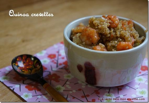 recette quinoa thumb Recette de quinoa aux crevettes, cuisine fusion.