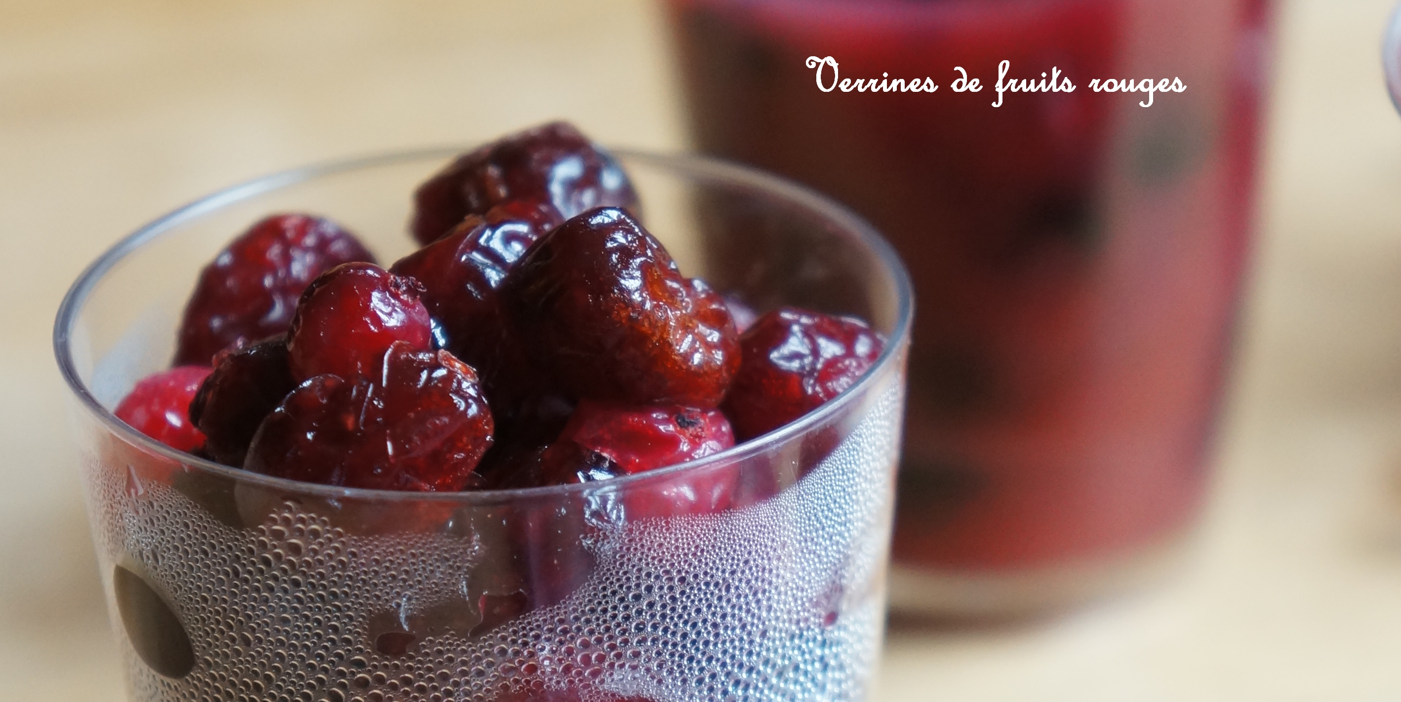 verrine fruits rouges