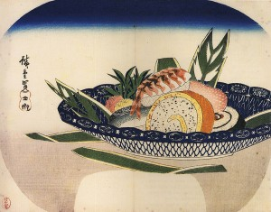 Hiroshige Sushi 300x235 Les bienfaits du sushi